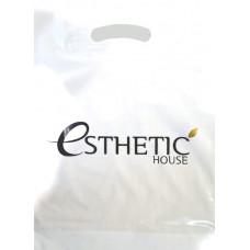 Пакет с логотипом (ESTHETIC HOUSE) ПВД 80 мкн , 30*20*3 с донной складкой