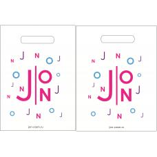 """Пакет с логотипом """"J:ON"""", ПВД 80 мкн , 30*20*3 с донной складкой"""