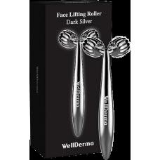 [WELLDERMA] Механический массажёр для лица, Face Lifting Roller Dark Silver