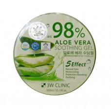[3W CLINIC] Гель универсальный АЛОЭ Aloe Vera Soothing Gel 98%, 300 гр