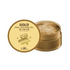 [Pretty Skin] Успокаивающий гель с золотом и муцином улитки, Gold Snail Soothing Gel, 300 мл.
