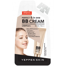 [DERMAL] Тональный крем YEPPEN SKIN PERFECT 6 in one BB CREAM (Light #21), 10 гр