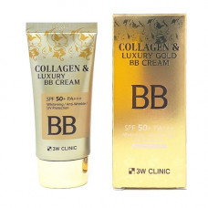 "[3W CLINIC] Крем BB с КОЛЛАГЕН/ЗОЛОТО ""Collagen&Luxury Gold"""