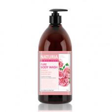 [NATURIA] Гель для душа РОЗА/РОЗМАРИН PURE BODY WASH (Rose & Rosemary), 750 мл