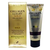 [3W CLINIC] Маска-пленка для лица Collagen&Luxury Gold  peel off pack, 100 гр