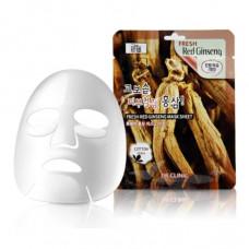 [3W CLINIC] Тканевая маска для лица КРАСНЫЙ ЖЕНЬШЕНЬ Fresh Red Ginseng Mask Sheet
