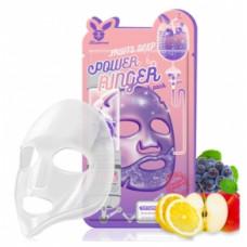 [Elizavecca] Тканевая маска д/лица Фруктовая FRUITS DEEP POWER Ringer mask pack