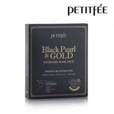 [PETITFEE] Маска д/лица гидрогел. ЖЕМЧУГ/ЗОЛОТО BLACK PEARL & GOLD HYDROGEL MASK PACK