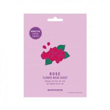 [Baroness] Антивозрастная тканевая маска с экстрактом цветов розы Rose Flower Mask Sheet