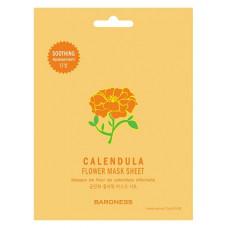 [Baroness] Смягчающая тканевая маска с экстрактом цветов календулы Calendula Flower Mask Sheet