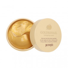 [PETITFEE] Набор патчей д/век гидрогел. ЗОЛОТО/УЛИТКА Gold/Snail Hydrogel Eye Patch, 60 шт