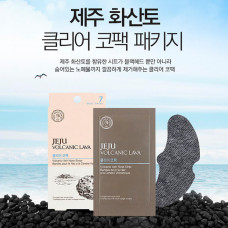 [THE FACE SHOP] Очищающие патчи для носа Jeju Volcanic Lava Pore Clear Nose Strip