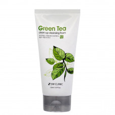 [3W CLINIC] Пенка д/умывания с экстрактом зеленого чая GREEN TEA CLEAN UP CLEANSING FOAM, 150 мл.