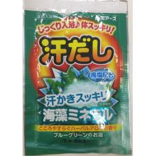 """""""Hakugen Earth"""" """"Asedashi"""" Согревающая соль для ванны с экстрактом морских водорослей, пакетик 25 гр"""