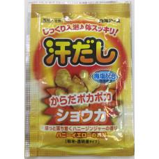 """""""Hakugen Earth"""" """"Asedashi"""" Согревающая соль для ванны с экстрактом имбиря, пакетик 25 гр."""