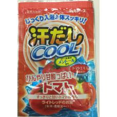 """""""Hakugen Earth"""" """"Asedashi COOL"""" Освежающая соль для ванны с экстрактом томата, пакетик 25 гр."""