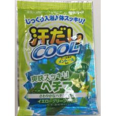 """""""Hakugen Earth"""" """"Asedashi COOL"""" Освежающая соль для ванны с экстрактом люффы, пакетик 25 гр."""