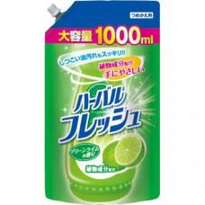 """""""Mitsuei"""" Средство для мытья посуды, овощей и фруктов с ароматом лайма 1000 мл. (мягкая упаковка)"""