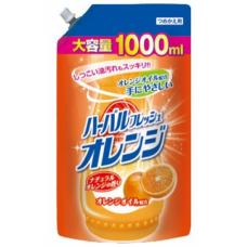 """""""Mitsuei"""" Средство для мытья посуды, овощей и фруктов с ар. апельсина 1000 мл. (мягкая упаковка)"""