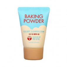 [ETUDE HOUSE] Пенка для жирной и комби кожи. Мини, Baking Powder BB Deep Cleansing Foam, 30 мл.