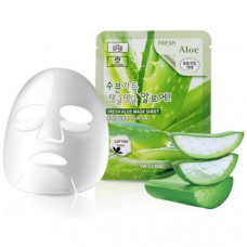 [3W CLINIC] Тканевая маска для лица АЛОЭ Fresh Aloe Mask Sheet