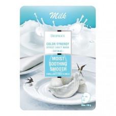 [DEOPROCE] Тканевая маска с молочными протеинами и гнездом ласточки, 20 гр.