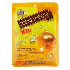 [May Island] Тканевая маска для лица c Коэмзимом Q10, Real Essense Coenzyme Q10 Mask Pack