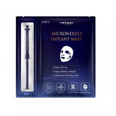 [Trimay] Двухэтапная маска: биоцеллюлозный лист+гель с микроиглами спикул, Microneedle Implant Mask