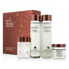 [JIGOTT] Набор увлажняющих средств с муцином улитки для ухода за кожей лица, Snail Skin Care 3 Set