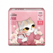 [SECRET DAY] Гигиенические прокладки Love Pink 16P (Средний) - NEW LOVE MEDIUM 245mm-16P